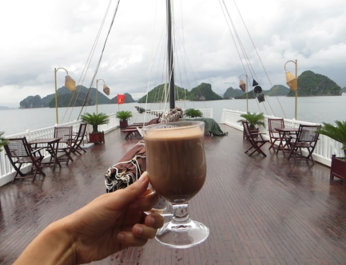 Hot Chocolate on the Ginger Junk, Halong Bay, Vietnam