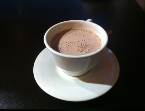 Hot Chocolate at Le Delice Imperial, Fontainebleau, France
