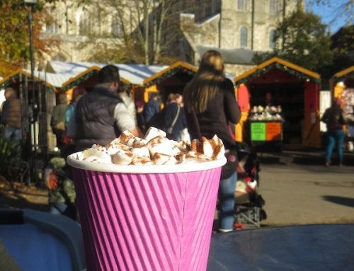 Hot Chocolate at Chocodippity, Winchester Christmas Market, Winchester, UK