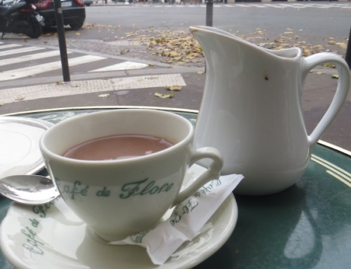 Hot Chocolate at Cafe de Flor, Paris, France