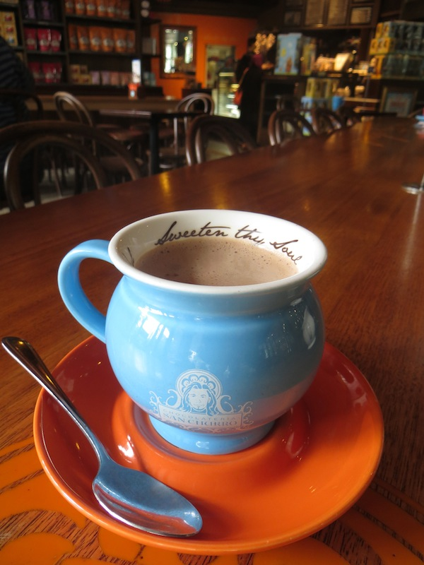 Hot Chocolate at San Churros, Melbourne, Australia