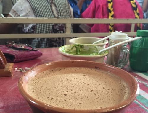 A Perfect Sunday of Weaving, Candle making and Markets- Hot Chocolate at Puesto de Barbacoa Dona Adolfa, Tlacolula Market, Mexico