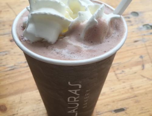 Danish Pastries and a Hot Chocolate at Lauras Bakery, Copenhagen, Denmark