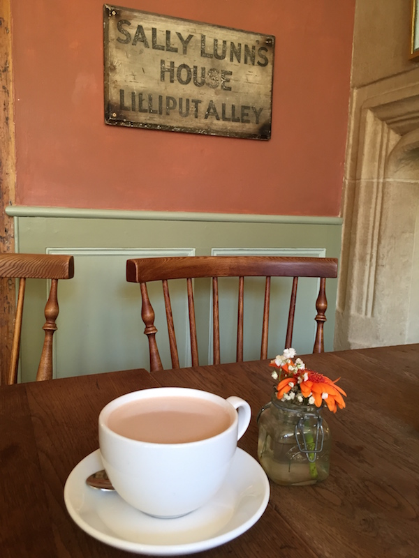 That Famous Bun and a Hot Chocolate at Sally Lunn, Bath, United Kingdom