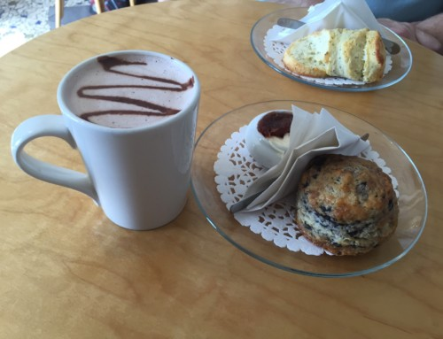 A Hot Chocolate at The Scone Witch, Ottawa, Canada