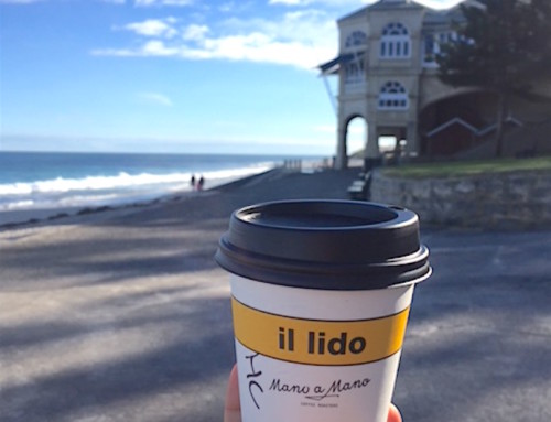 Sculptures by the Sea and the Hot Chocolate at Il Lido, Perth, Australia