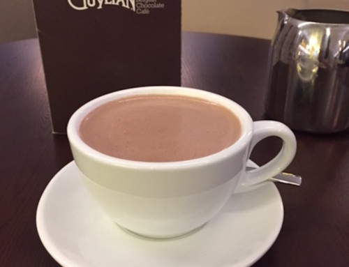 A Hot Chocolate at Guylian Belgian Chocolate Cafe, Perth, Australia