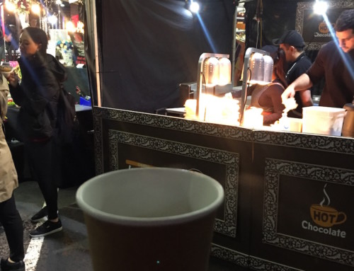 A Hot Chocolate at Churros, Queen Victoria Night Market, Melbourne, Australia