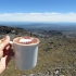 Hot Chocolate at Knoll Ridge Chalet, Tongariro National Park, New Zealand